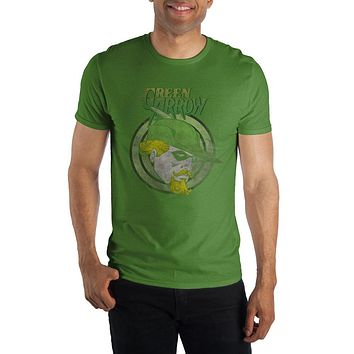 DC Comics Green Arrow Men's Green T-Shirt Tee Shirt