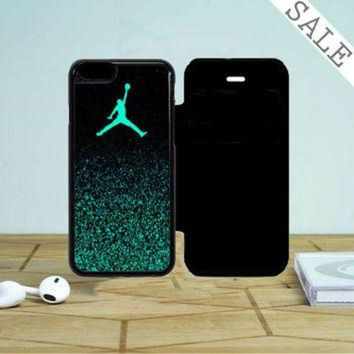 DCKL9 Nike Air Jordan Jump Mint Glitter iPhone 5 Flip Case