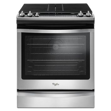 Whirlpool 5.8 cu. ft. Slide-In Gas Range with Center Oval Burner in Stainless Steel-WEG745H0FS - The Home Depot