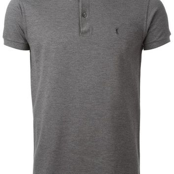 DCCKIN3 Saint Laurent band collar polo shirt