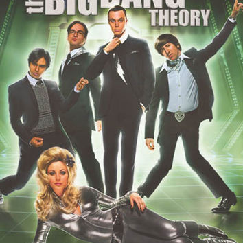 Big Bang Theory Snazzy Cast Poster 22x34