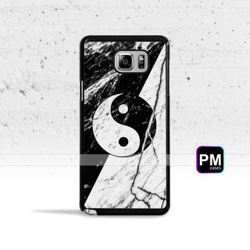 Marble Yin Yang Case Cover for Samsung Galaxy S3 S4 S5 S6 S7 Edge Plus Active Mini Note 3 4 5 7