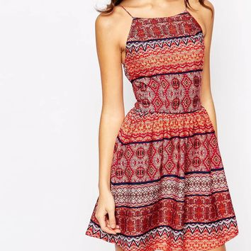 New Look boho Printed Sundress at asos.com