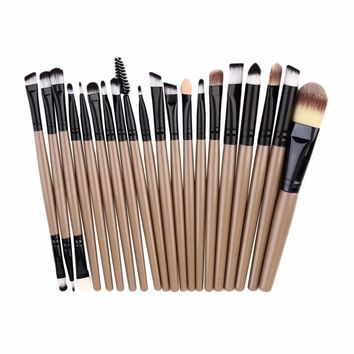 20pcs/set High quality Makeup Brushes Pro Blending Eyeshadow Powder Foundation Eyes Eyebrow Lip Eyeliner Make up Brush Tool Kits