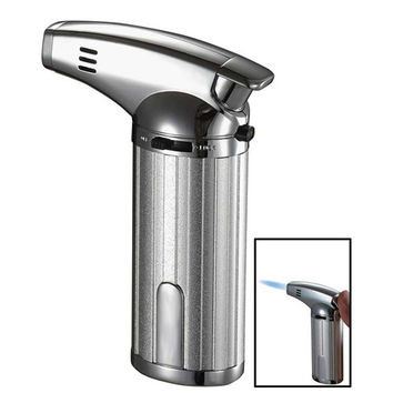 Visol Fiamma Chrome Wind-Resistant Jet Flame Table Cigar Lighter