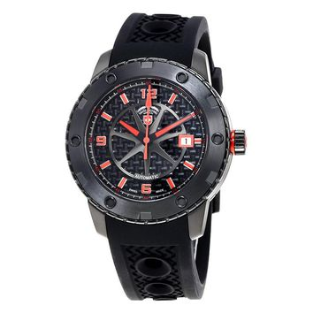 Swiss Military Rallye Automatic Black Dial Mens Watch 2757