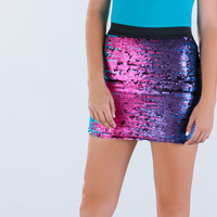 Party On Sequined Mini Skirt