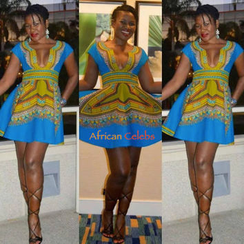 2c7125c13b00 Dashiki Mini Dress Dashiki Dress African from The African Shop