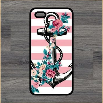 Anchor and Flowers Art Print Cell Phone Case iPhone 4/4s 5/5c 6/6+ Case and Samsung Galaxy S3/S4/S5