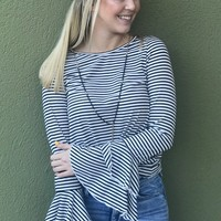 Coffee Date Top- White/Black