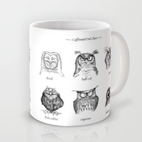 Caffeinated Owls Mug by Dave Mottram