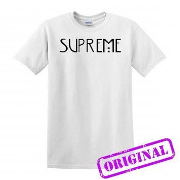 supreme american horror story copy for shirt white, tshirt white unisex adult