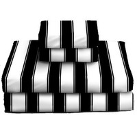 Big Top Black And White Striped Sheet Set