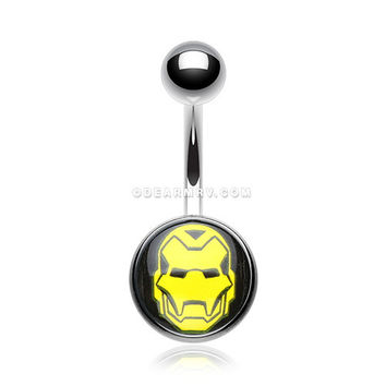 Iron Man Mask Basic Belly Button Ring