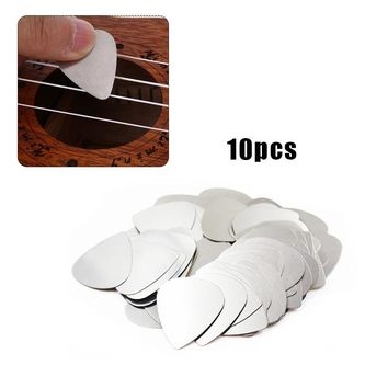 10pcs Stainless Electric Guitar Pick Acoustic Music Picks Plectrum  Flanger Patented Triangle Guitar picks Antislip Style Pick