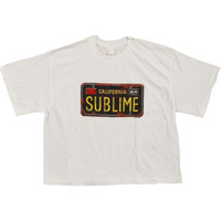 Sublime  License Plate Girls Jr White Rockabilia