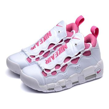 "Nike Air More Money Uptempo QS ""White Pink"" Sneakers - Best Deal Online"