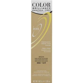 Ion Ammonia Free Hair Color 6AA Dark Intense Ash Blonde