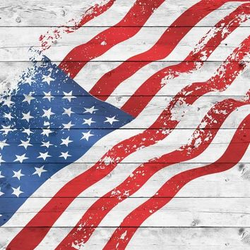 American Flag Wood Backdrop - 2271
