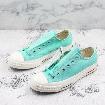 Converse Chuck Taylor All Star 1970s Low Top Heritage Green Canvas Sneakers - Best Deal Online