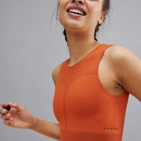 adidas Warpknit Crop Top In Orange at asos.com