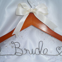 Personalized BRIDAL hanger  bridesmaid gift  wedding dress hanger  maid of honor gift  hanger