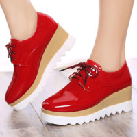 Womens Cool Retro Platform Wedge Boots