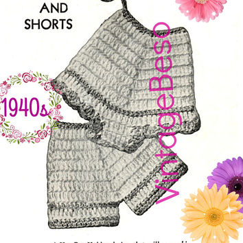 Panties and Shorts Potholder CROCHET Pattern • PdF Pattern • Vintage 1940s • Digital • Cute Bridal Shower or Wedding Gift • Underwear