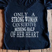 Sale! Only a strong woman can survive missing half of her heart