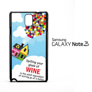 Up And Go Balloon House Y2715 Samsung Galaxy Note 3 Case