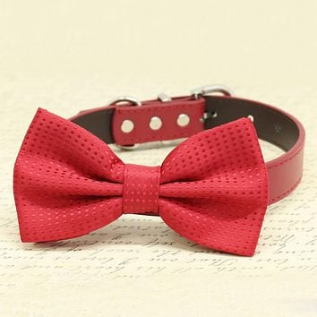 Red Dog bow tie Wedding accessories, Dog Birthday gift, dog lovers