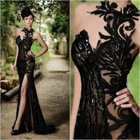 New 2016 Floor Length Lace Sweetheart Beaded Prom Dresses Party Gowns Long Sexy A-Line Prom Dresses