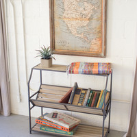 Metal Library Book Shelf
