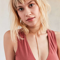 Wheat Chain Wrap Choker Necklace - Urban Outfitters
