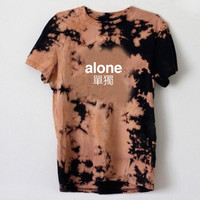 Alone Bleached T-shirt