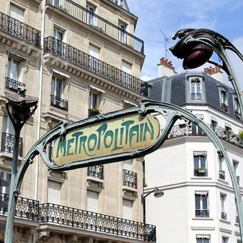Parisian vintage signboard, fine art photography, art deco, la metro, metropolitain, 5x7 (13x18) NEW, PARIS - SPRING 2012