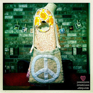 Peace Bag-Crocheted/Felted