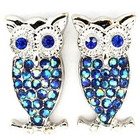Celebrity Inspired Crystal Owl Earrings