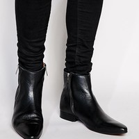 ASOS Chelsea Boots in Leather at asos.com