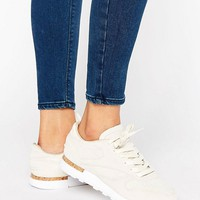 Reebok Classic Leather Lst Sneakers With Cork Sole at asos.com