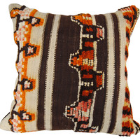 Brown Wool Moroccan  Pillow