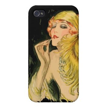 Classy Feather Dame iPhone 4 Matte Case