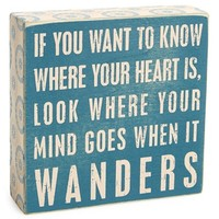 Primitives by Kathy 'Where Your Heart Is' Box Sign