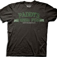 It's Always Sunny in Philadelphia Distressed Paddy's Irish Pub Black T-shirt Tee