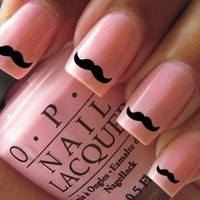60x Movember, Nail Wraps/ Art Cute little Black moustache nail decals 24hr Dispatch