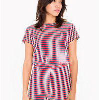 Striped Jersey T-Shirt Romper | American Apparel
