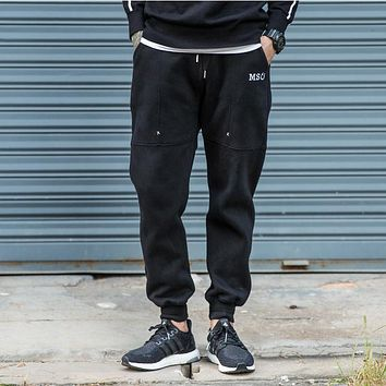 Joggers Men's Trouser Winter Warm Sweat Pants For Men Casual Full Length Fitness Brand Clothing High Quality Hip Hop Pants Homme