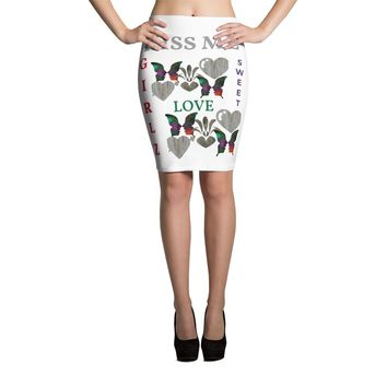 Custom and Sassy Colorful elastic waist Pencil Skirt