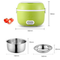Newest 1.2L Portable Lunch Box Electric Rice Cooker 200W Multifunction Mini Rice Cooker