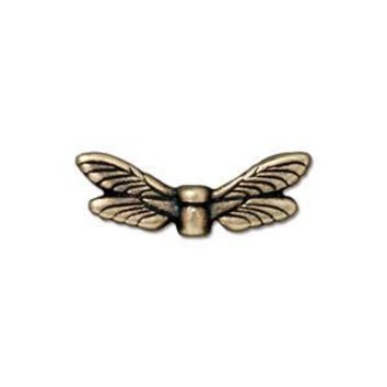 94-5588-27 - TierraCast Antique Brass Pewter Dragonfly Wings | Pkg 2